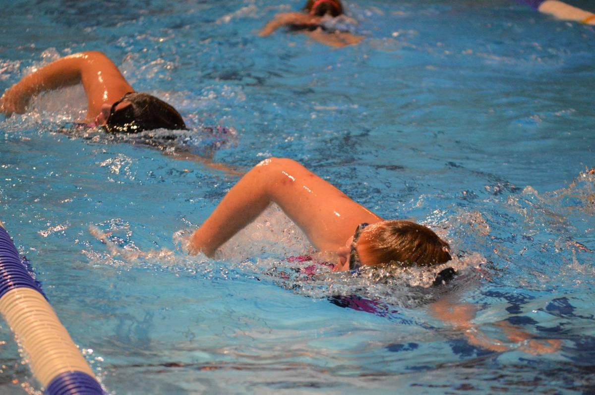 Trimzwemmen in het Molenduinbad Norg