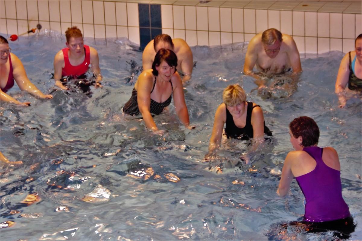 Aquaspinning in het Molenduinbad Norg