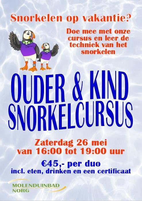 Ouder&Kind snorkelcursus