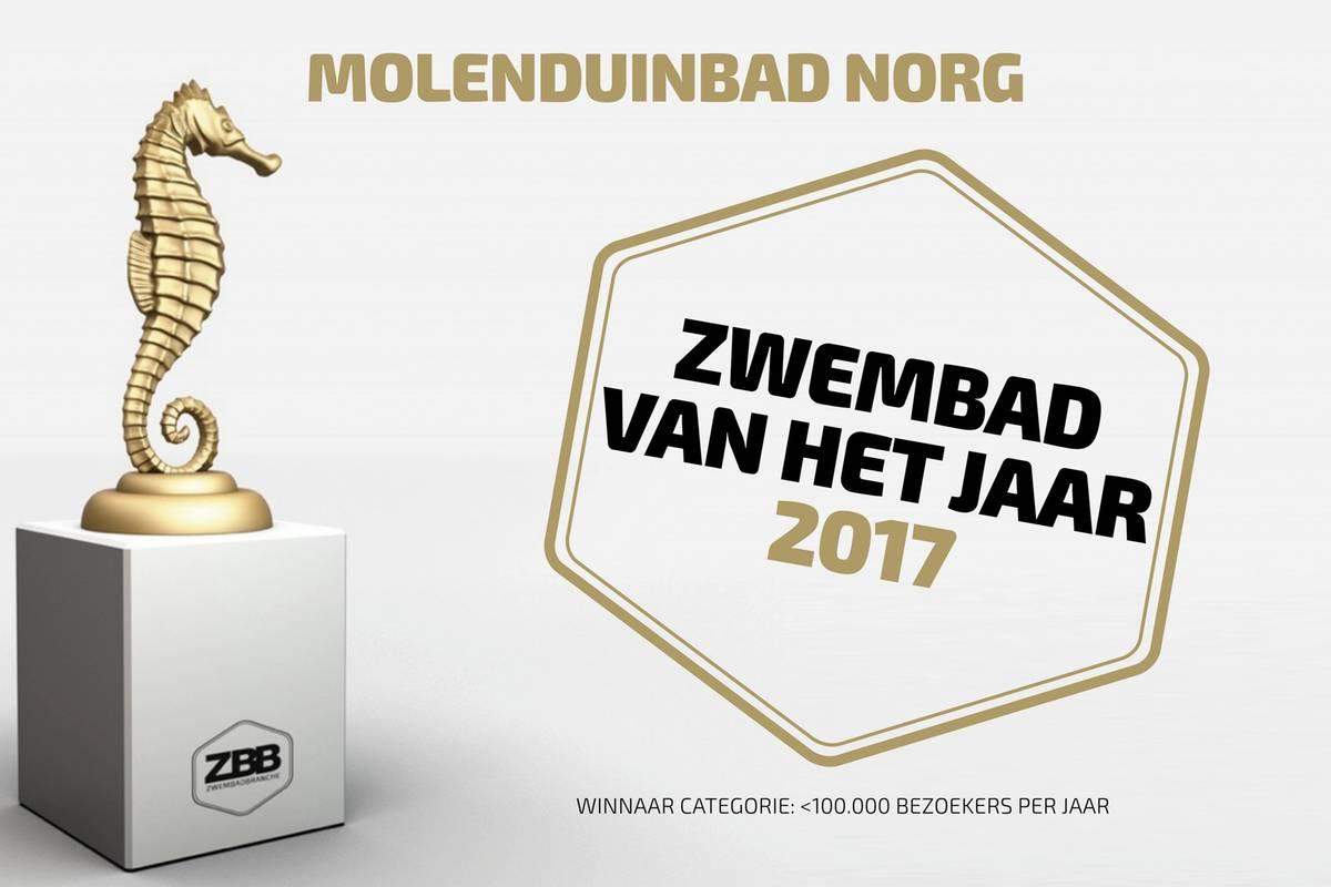 Molenduinbad Norg 'zwembad van het jaar 2017'
